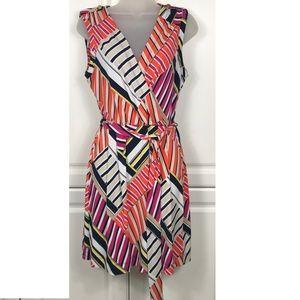Banana Republic Striped Multcolor Dress Size M